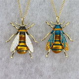 Antique Look Honeybee Pendant Necklace - 2 Colors