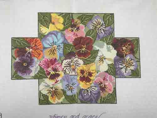 Whimsy and Grace Pansies Brick Cover