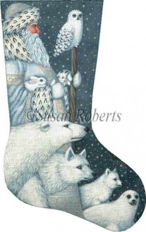 Tapestry Tent Arctic Santa Christmas Stocking