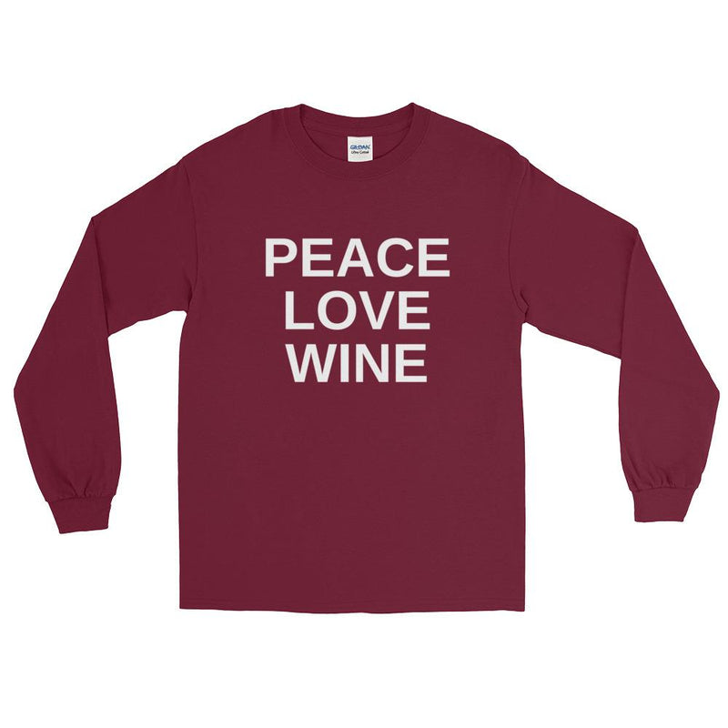 Peace Love Wine Long Sleeve   T-Shirt