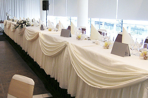 Bridal Table Swagging  with draping