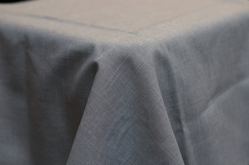 3.3m Light Grey Linen Look Round cloth