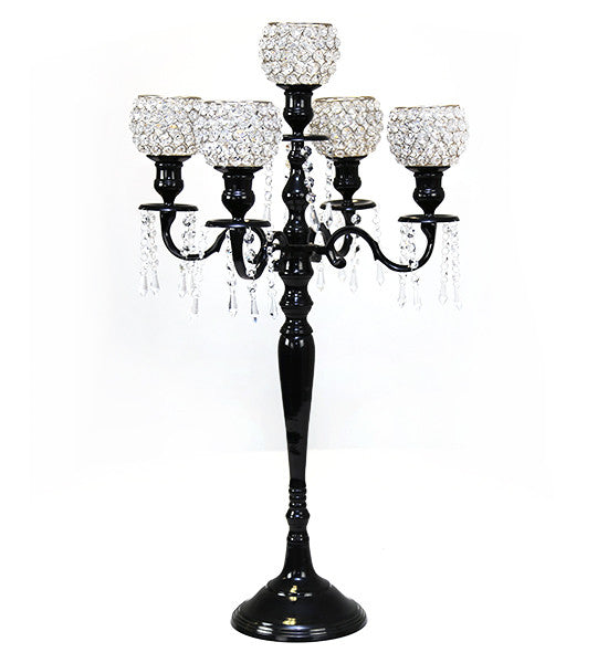 Black Crystal Candelabra