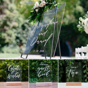 Acrylic Portrait Classic Welcome Sign Pack 2 - FoxAndHart