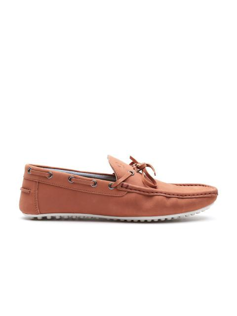 Fastalas Rust Brown Suede Boat Shoes