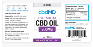 CbdMD Tincture Oil Drops-300mg