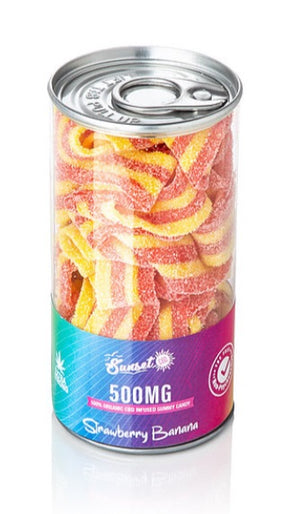 Sunset CBD Rainbow Belts-500mg