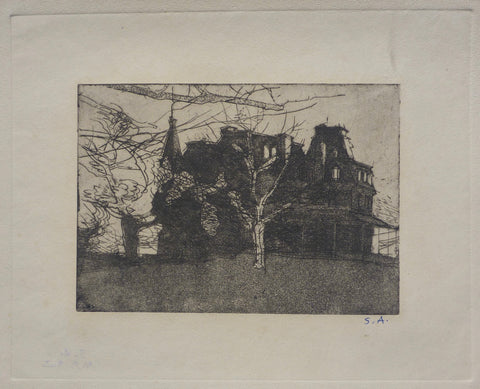 """Victorian Mansion, Newport, Rhode Island"" by Sperry Andrews, Amer., (1917-2005)"