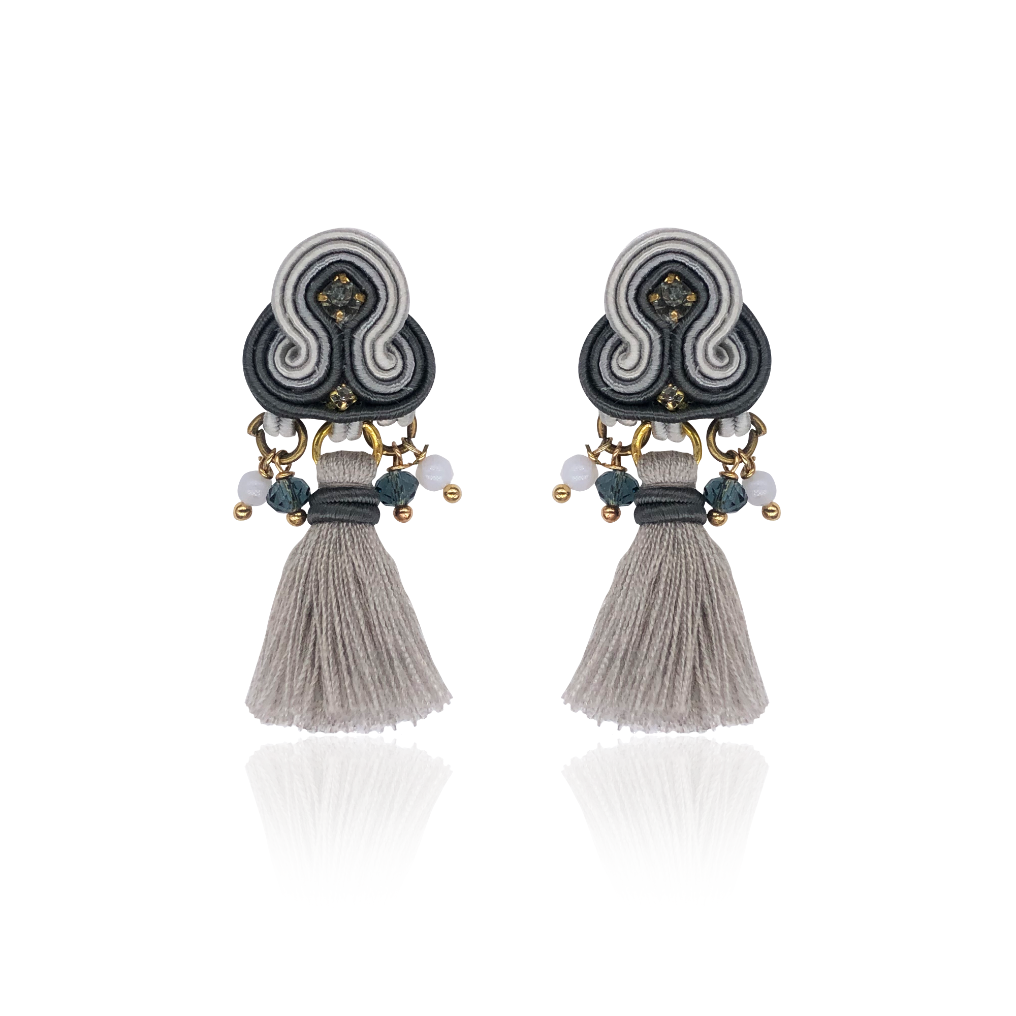 Grey Mini Borla Earrings