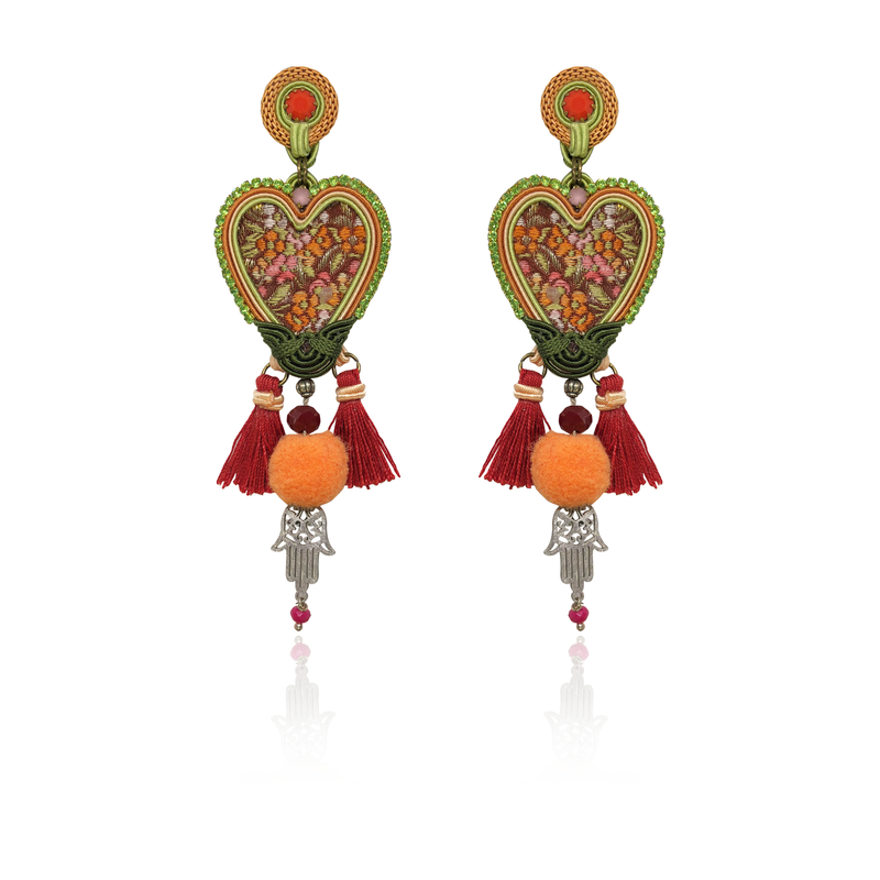 """Your hand is in my Heart"" One & Only Earrings"