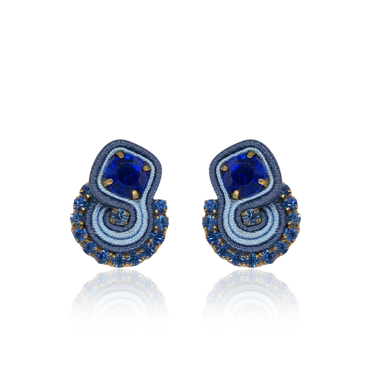 Blue Mini Mamma Earrings
