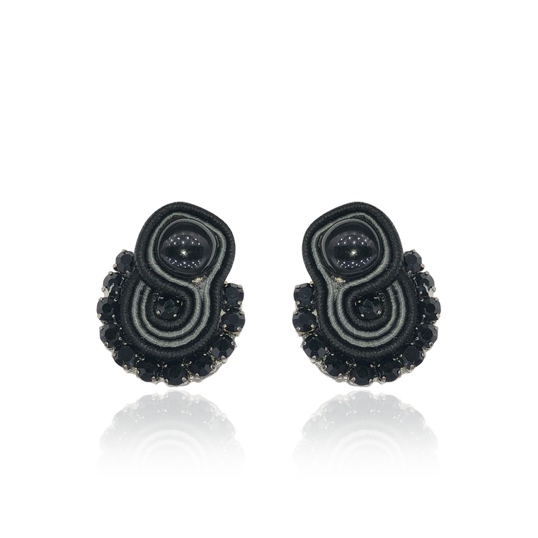 Black Mini Mamma Earrings