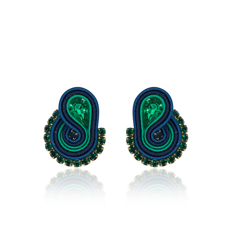 Emerald Mini Mamma Earrings
