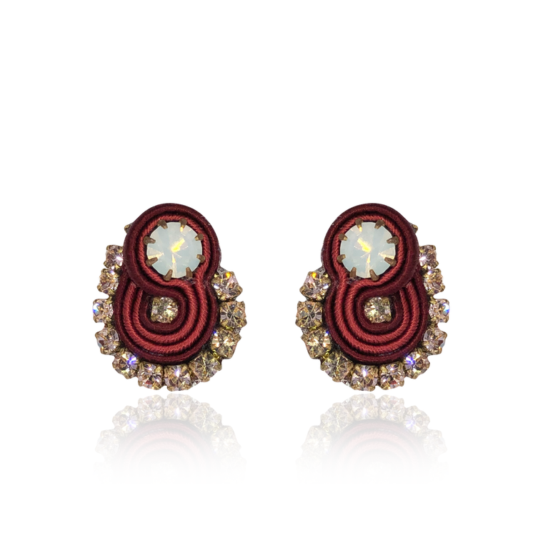 Bordeaux Mini Mamma Earrings
