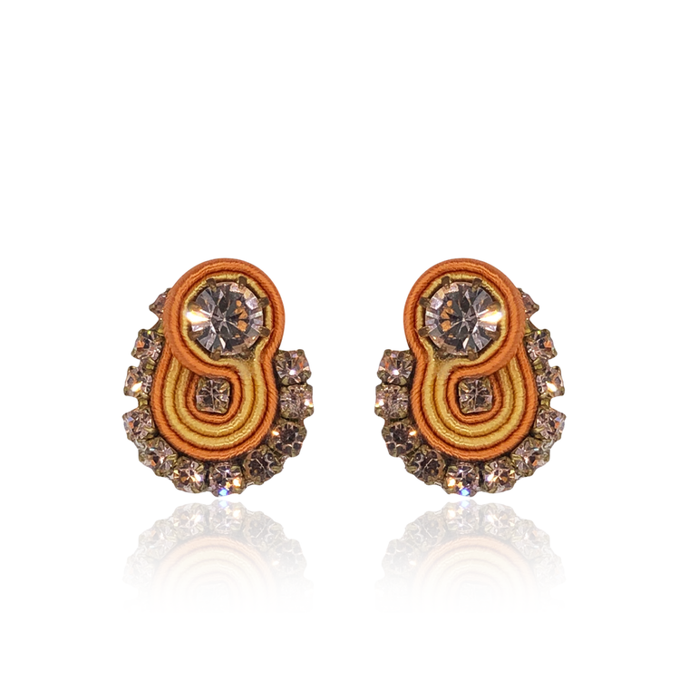 Orange Mini Mamma Earrings