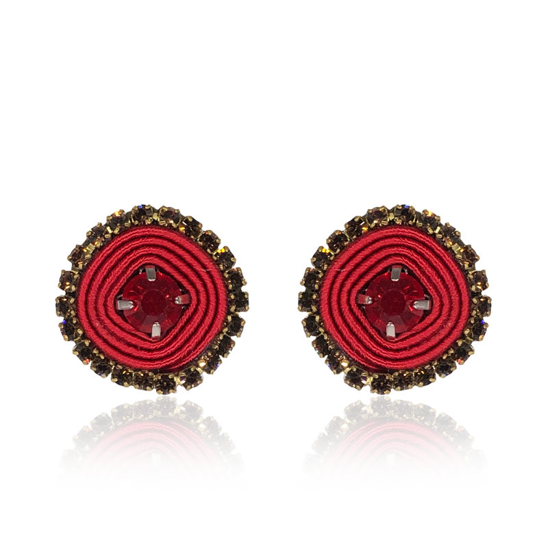 Red Basic Earrings