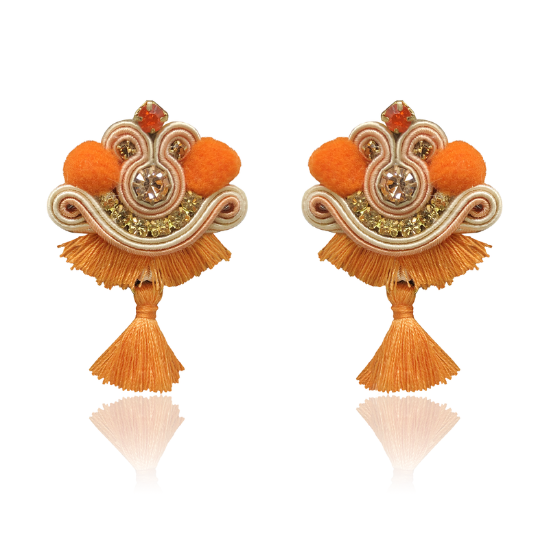 Orange MIni Tiz Earrings