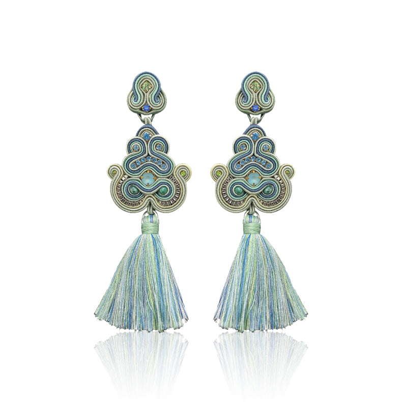 Tizi Big Baby Blue Earrings