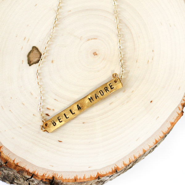 Bronze Bar Necklace | Bella Madre