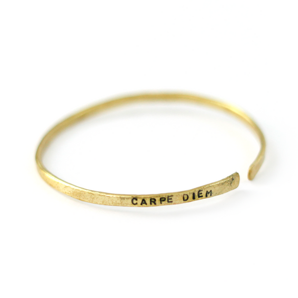 Bronze Bangle | Carpe Diem