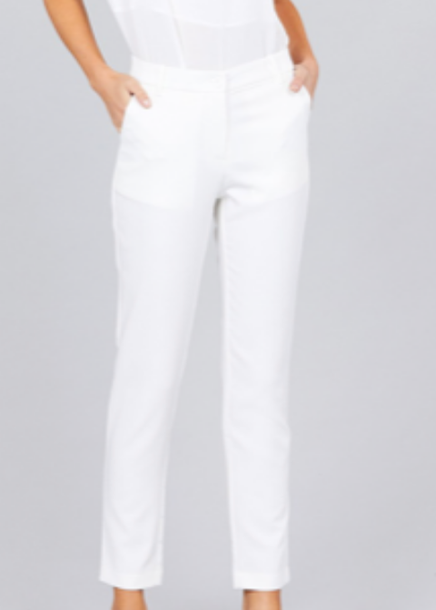 Classic Ankle Pants | Off White - Rolling Ranch Boutique