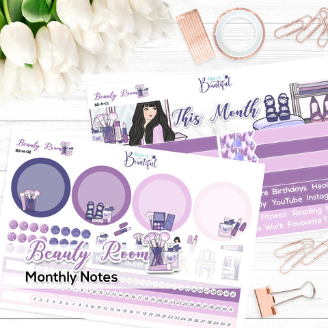 Beauty Room - Monthly Notes Kit