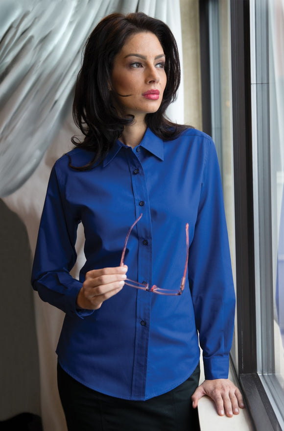 Coal Harbour Easy Care Ladies Long Sleeve L610 in Royal Blue