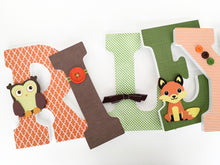 Orange, Green, & Brown Letter Set - Nursery Décor for Boys - LetterLuxe - LetterLuxe