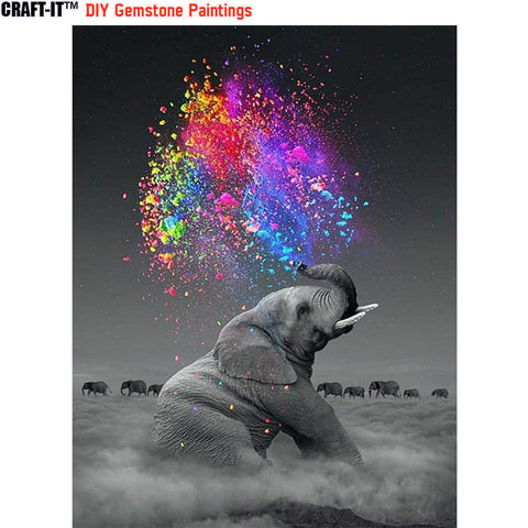 """Splash of Beauty"" - Craft-IT™ DIY Gemstone Paintings - Deal-Rush"