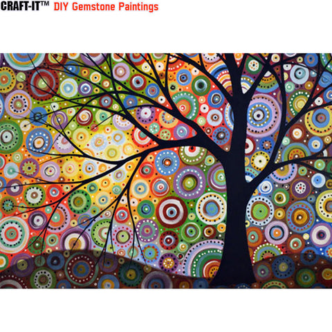 """Tree of Existence"" - Craft-IT™ DIY Gemstone Paintings - Deal-Rush"