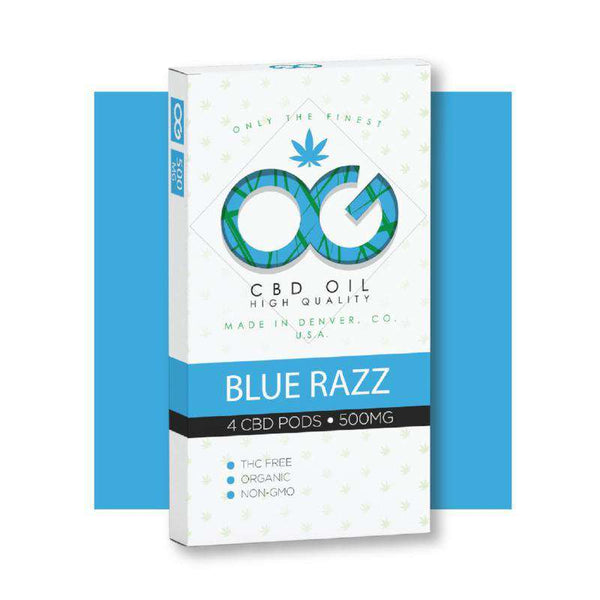 OG CBD BlueRazz Pods (Pack of 4) - OG Laboratories