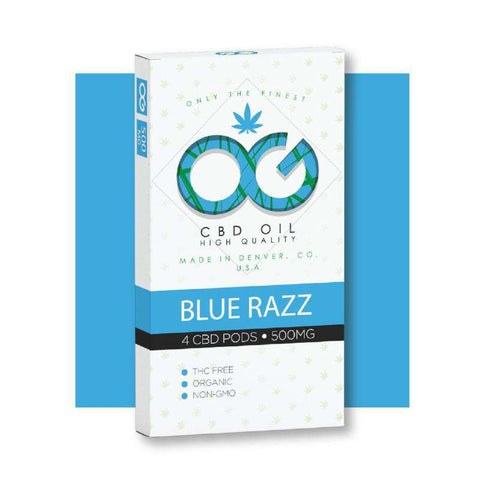 OG CBD BlueRazz Pods (Pack of 4)