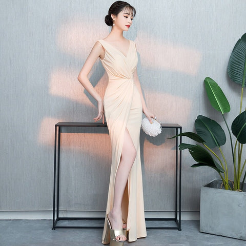Nude Wrap Gown
