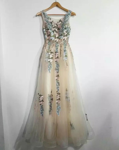 Floral Evening Gown - Gowns.sg