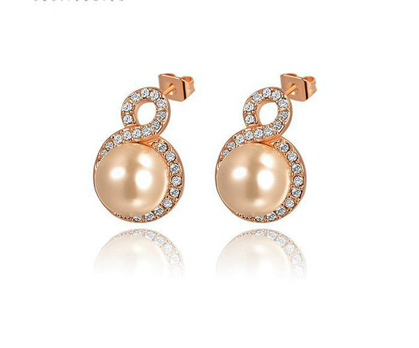 18K Gold Plated Kayleigh Earrings with Simulated Diamond