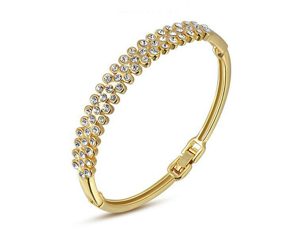 18K Gold Plated Piper Bracelet with Simulated Diamond