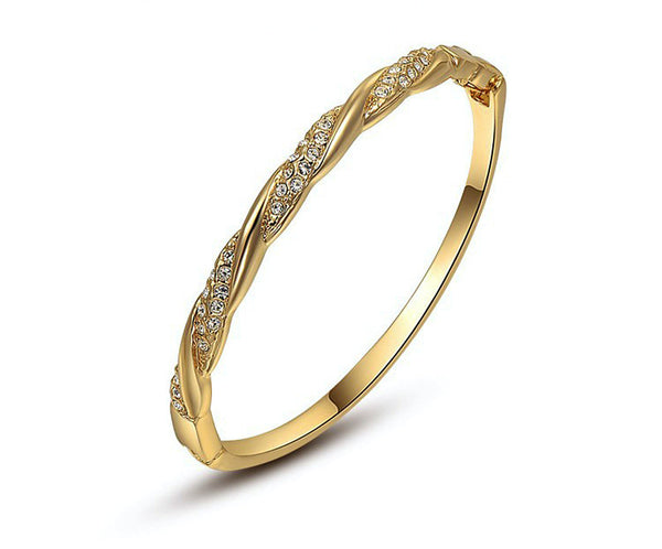 18K Gold Plated Victoria Bracelet with Simulated Diamond
