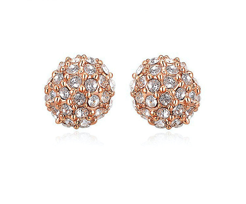 18K Rose Gold Plated Francesca Earrings with Simulated Diamond