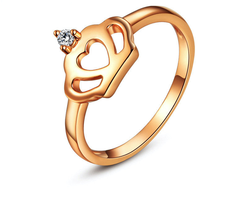 18K Rose Gold Plated Jazlyn Ring with Simulated Diamond