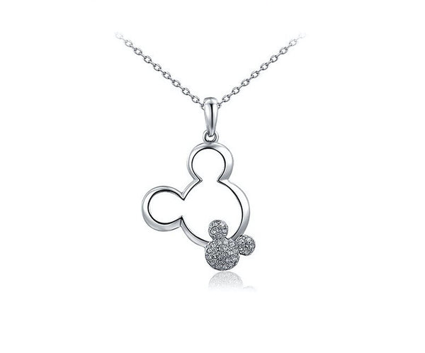Platinum Plated Madelyn Necklace with Simulated Diamond