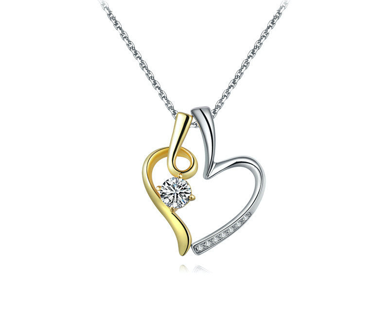 Platinum Plated Makenna Necklace with Simulated Diamond