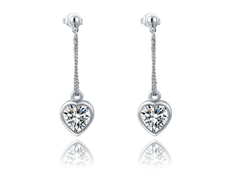Platinum Plated Ryleigh Earrings with Simulated Diamond