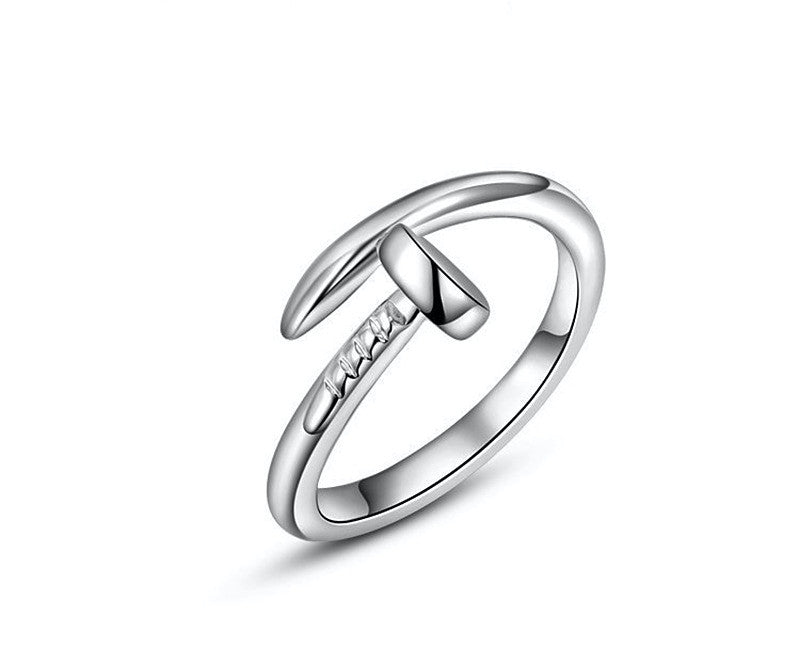 Platinum Plated Sophie Ring with Simulated Diamond