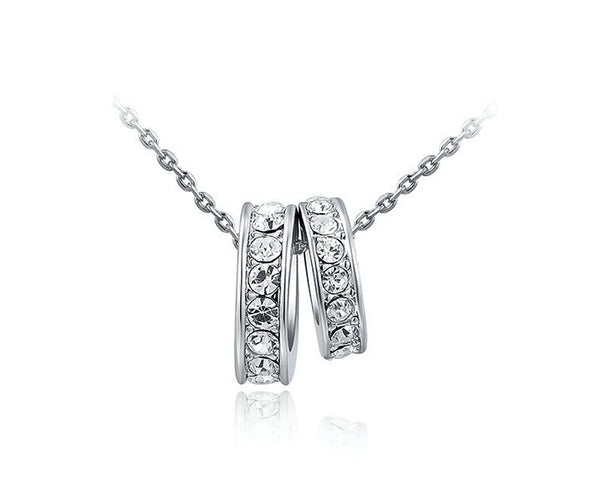 Platinum Plated Sydney Necklace with Simulated Diamond