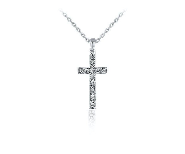 Platinum Plated Zoey Necklace with Simulated Diamond