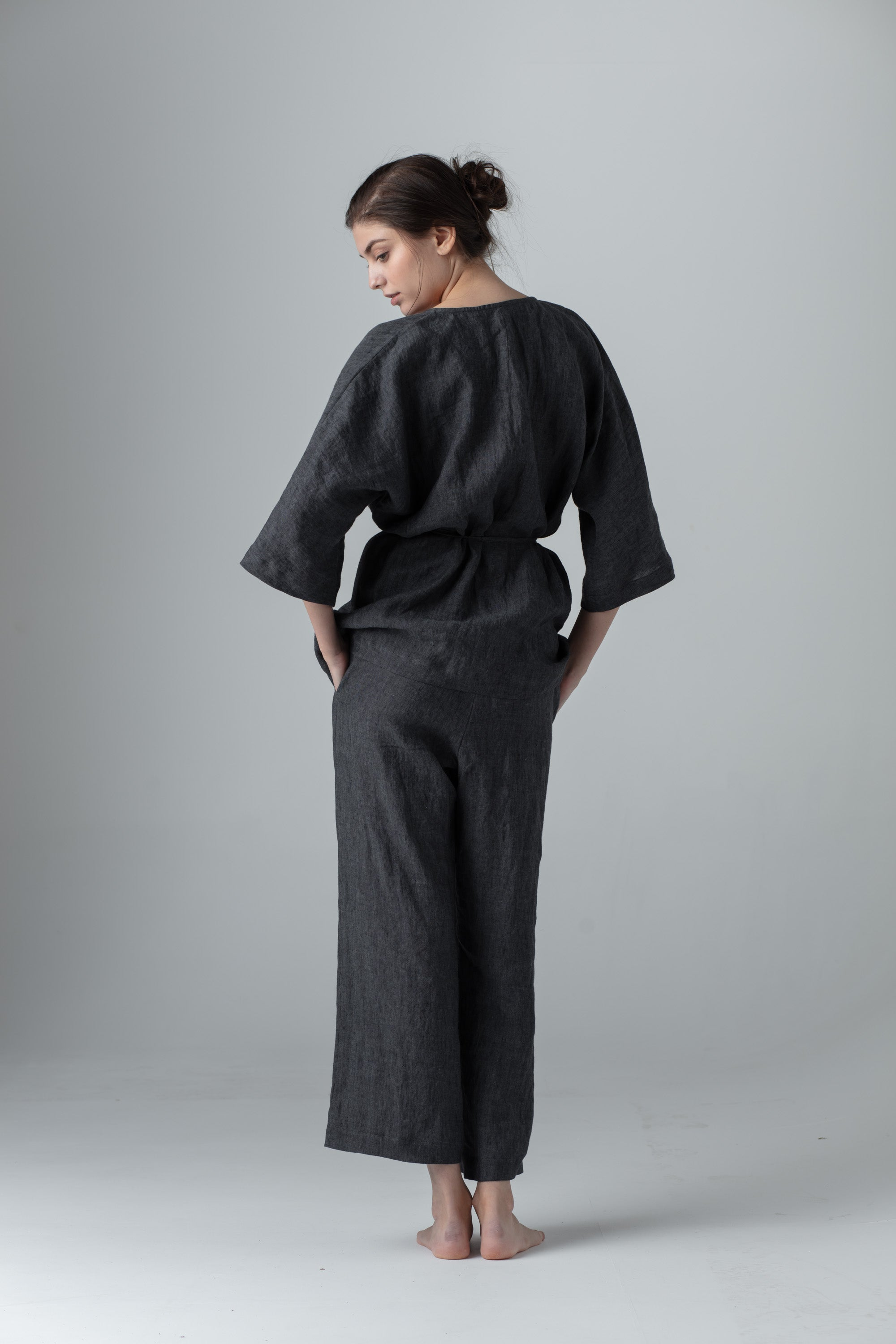 WRAP AROUND TOP dark grey