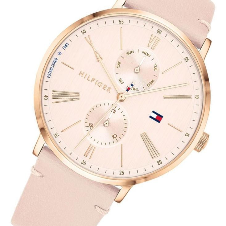 Tommy Hilfiger Multi-function Blush Pink Leather Ladies Watch - 1782071