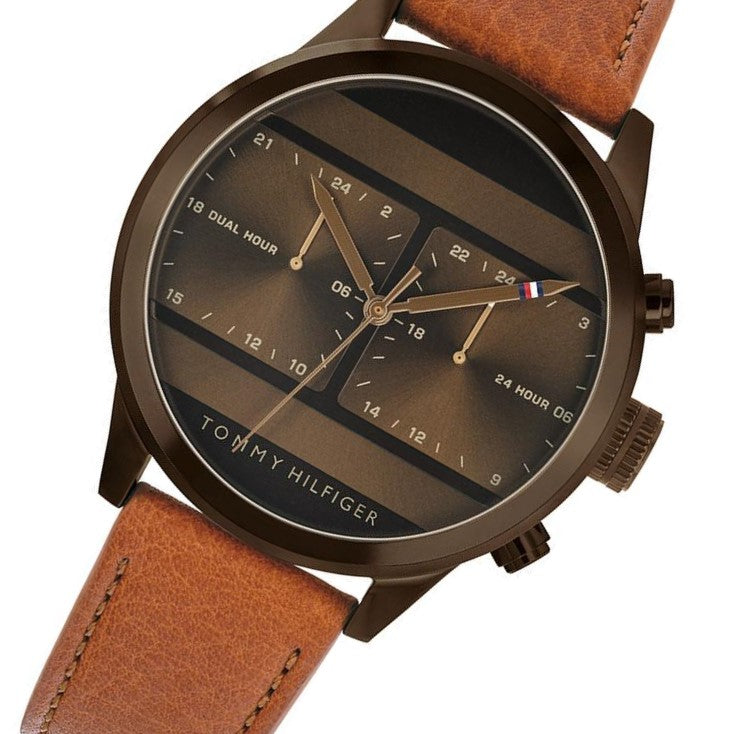 Tommy Hilfiger Men's Casual Leather Watch - 1791594