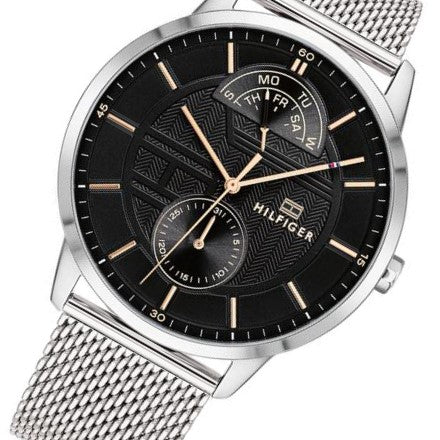 Tommy Hilfiger Multi-function Silver Mesh Men's Watch - 1791610