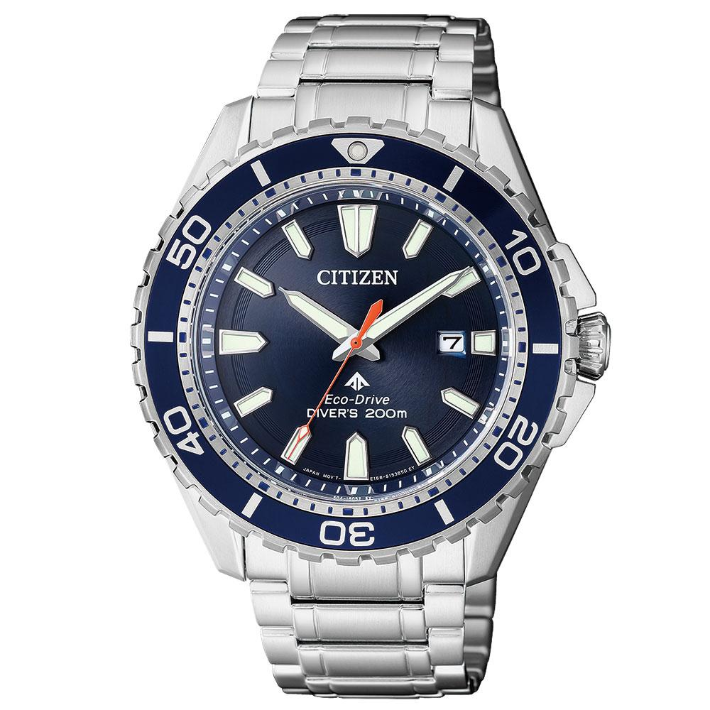 Citizen Promaster Marine Gents Eco-Drive Stainless Steel Diver Watch - BN0191-80L